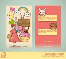 Birthday invitation card by ideareattiva