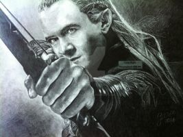 Legolas (Hobbit/Lord Of The Rings) - 2014 Drawing by Stevegillettart