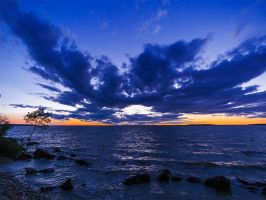 Sunset on Lake Winnipeg 4804 by WayneBenedet