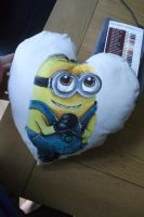 Minion pillow, front side by BlueStripedRenulian