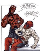 Darth Maul and Deadpool AlmaCon 2012 by ComfortLove
