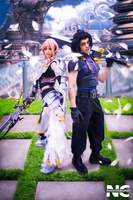 Lighting and Zack from Final Fantasy by neekocosplay