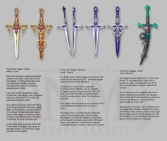 Anima: summoner daggers by Wen-M