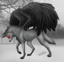 Winged Wolf by Ankhmut