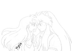 Inuyasha and Kagome by SassyLilPanda