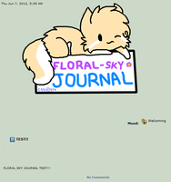 Floral-Sky's Journal skin(RAFFLE) by Snowdrop-the-Kitty