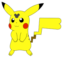 Mickey Mouse's Head-Marked Pikachu by Wanda92