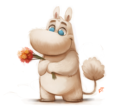 Day 538. Moomintroll Quickie by Cryptid-Creations