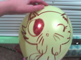 kitty balloon by RegularShowCP