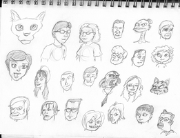 Even more faces by PlummyPress