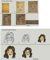 Roxyielle vs Drawing Method Meme by Roxyielle