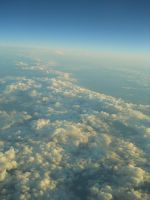 Clouds above the Pacific Ocean by NeroUrsus