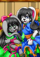 Karai and Tobu: Lolita Bunnies by chibipunk7231
