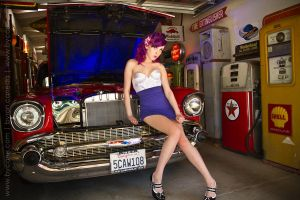 Gas Station Pin-Up by MelissaDrew