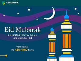 Eid greeting card for ABN Amro by 11thagency
