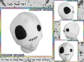 Halloween Chibi Skull Hat by AnimeNomNoms