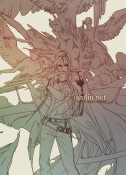 WIP - Vocruen line art by shilin