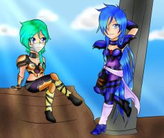 AT:~Euroda and Scarleth by IcyCryStaLHeaRt