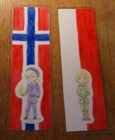 Bookmarks - Norway and Poland by Nathairr