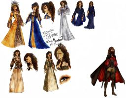 Merona Amaranth Design Sketches by AnnalynneMarie
