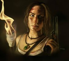 Tomb Raider Surviror is born portrait of Francine by LeksaArt