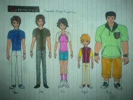 Gatchaman - Civvies Redesigns by W-Double