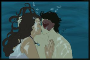 Zutara Underwater Kiss by jeminabox