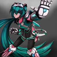 MechaMusume Miku by FixelCat