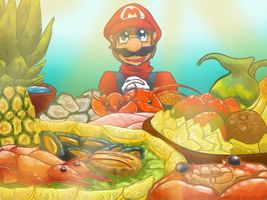 Mario Sea's food by SuperSmashWolves