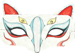 Kitsune mask by teika1997