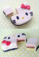 Polymer Clay : Hello Kitty Cake ver.2 by CraftCandies