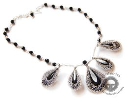 Black and silver necklace by OlgaC