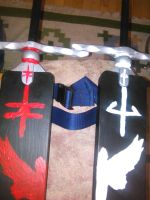 claymore swords in holder 2 by daylover1313