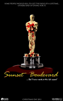 Sunset Boulevard Horror Poster by MrAngryDog