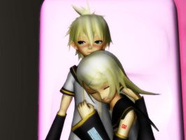[MMD] Rin x Len - After A Busy Day... by Kara-chann