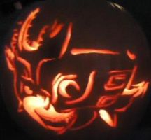 Midna Pumpkin by LegendofFullmetal