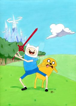 Finn and Jake by TalisX