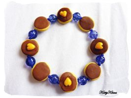 Blueberry Pancake Bracelet by Cateaclysmic