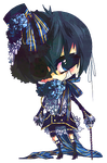 his master, Ciel by kaahe