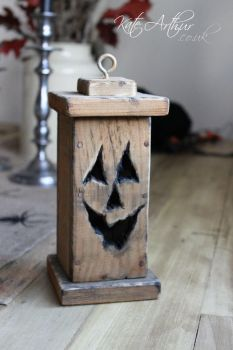 Wooden Pumpkin Lantern by kate-arthur