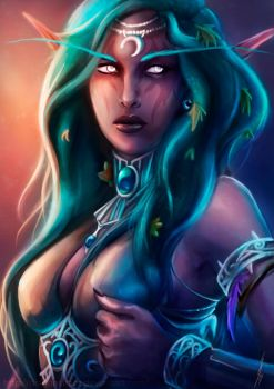 Tyrande - World of Warcraft by DragonsTrace
