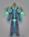 FrostwindzDrawing | Monk Armor Set Concept by Frostwindz