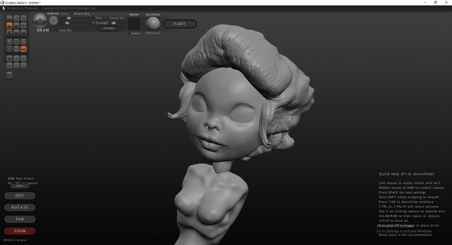 Doll Head with Torso by BaneNascent
