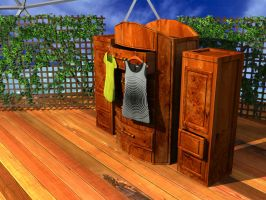 blouse and cabinets by Caelhath