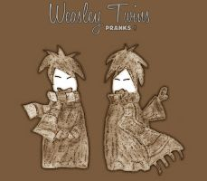 Weasly twins by alKahinat by Hogwarts-Castle