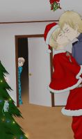 I saw Papa kissing Santa Claus by ElectrikTrinity