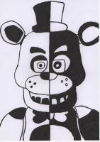 Five Nights at Freddy's Black and White Freddy by GrundyTV