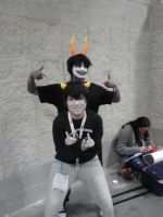 Gamzee Makara and Karkat Vantas by DemonsRuleThisWorld