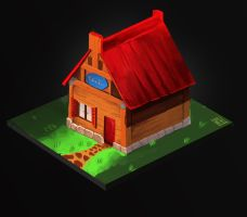 Isometric house by C-Alcy
