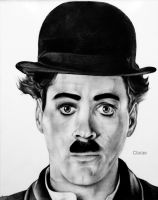 Robert Downey Jr-Chaplin by Clarae19